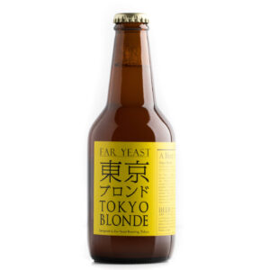 bottiglia di birra artigianale di tokyo blonde
