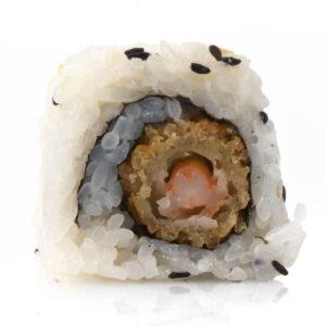 roll con gamberi cotti tempura