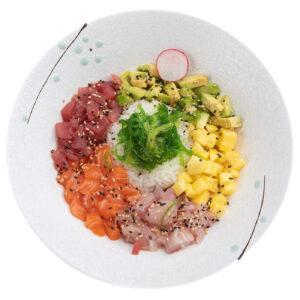 bowl con salmone orata e tonno