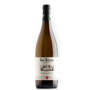 bottiglia di vino bianco pinot grigio rocca bernarda